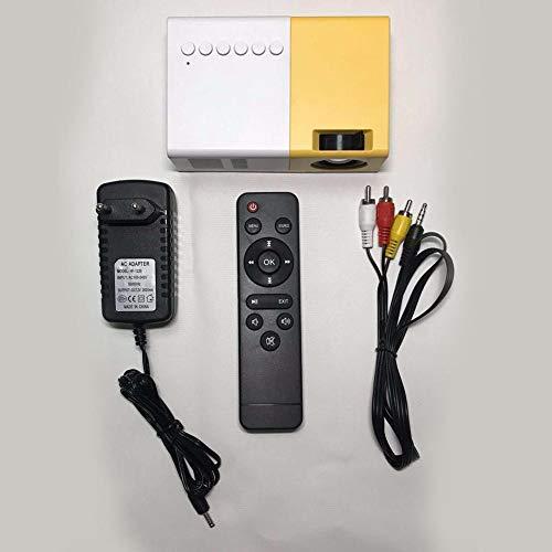 Diuspeed Mini proiettore, 2500 Lumens Videoproiettore Micro proiettore 1080P Proiettore miniaturizzato Mini proiettore LED Supporto AV VGA HDMI USB SD