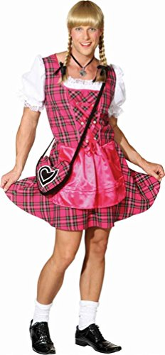 ostüm Dirndl Mann Herren pink Trachten-kleid Männer-ballett Junggesellenabschied Herrenkostüm Größe 46/48 (Billige Halloween-kostüme Für Babys)