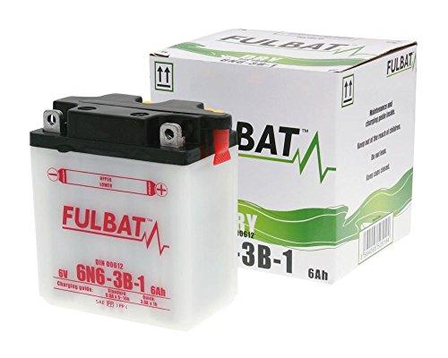 Batterie FULBAT 6V 6N6-3B-1 DRY inkl. Säurepack für YAMAHA DT175 Enduro 175 ccm Baujahr 78-81[ inkl.7.50 EUR Batteriepfand ]