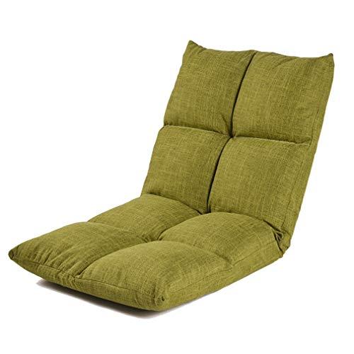 Verstellbarer Bodenstuhl Boden Stuhl Faltbare Schlafsofa, Verstellbare Sofa Faule Couch Matte Sitz Stuhl zum Lesen Büro Fernsehen Sofa für Zuhause Oder Büro (Color : Green) (Stuhl-matte Faltbarer)