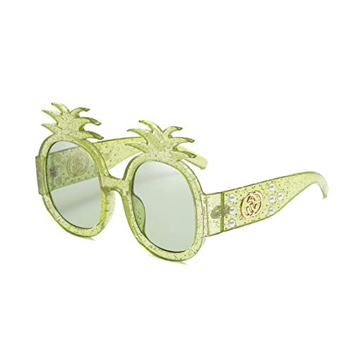 YLNJYJ Perle Ananas Niet Übergroße Nette Sonnenbrille Frauen Männer Marke Desinger Pflanzenform Sonnenbrille Für Weibliche New Oculos