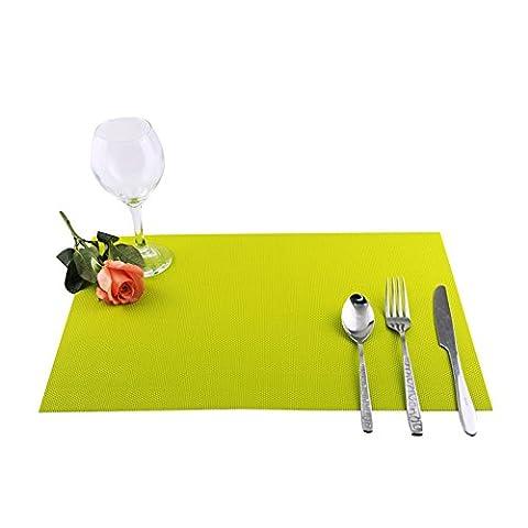 Nourriture alimentation Tapis de vin Tapis Isolation thermique Tapis Tissage Sets de table Set de table 30*45cm