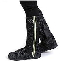 SWISSWELL Unisex Regenüberschuhe Outdoor Wasserdichte und Mehrweg Rutschfeste Schuhüberzieher Regenstiefel mit Reflektoren für trockene, saubere Schuhe auch bei Regen, Schnee oder Staub