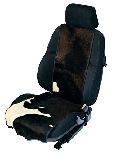 Preisvergleich Produktbild Autositzbezug Western Vintage echtes Stierfell Unikat (schwarz-weiß) K-004