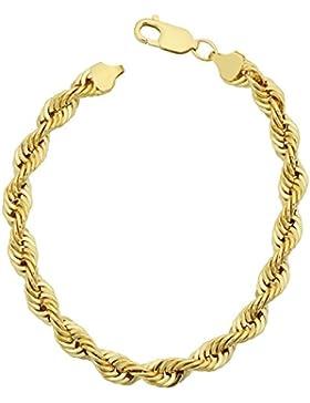 18 karat / 750 Gold Kordel Armband Gelbgold 6 mm. Breit