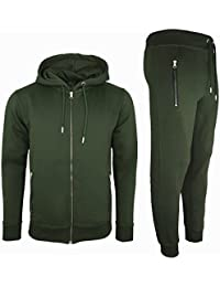 3d39e0e8c64fc Mens Tracksuit Set New Contrast Cord Fleece Hoodie Top Bottoms Jogging Zip  Joggers Gym Sport Sweat