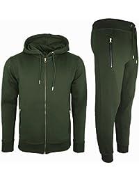 c33a09fb2533 Mens Tracksuit Set New Contrast Cord Fleece Hoodie Top Bottoms Jogging Zip  Joggers Gym Sport Sweat