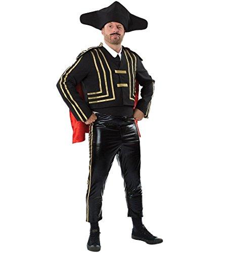 Kostüm Matador Männer - ILOVEFANCYDRESS STIER KÄMPFER KOSTÜM VERKLEIDUNG = MATARDOR = BEINHALTET = HEMDEINSATZ+Krawatte MIT Klettverschluss+Kurze Jacke+Cape+Hut+3/4 Hose