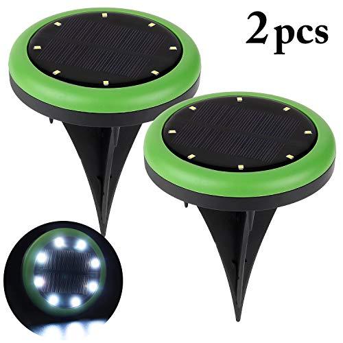 Fansport Led Solar Leuchten Garten, Garten Licht Solar LED Landschaft Weg Licht Außen Hof Licht für Terrasse Rasen