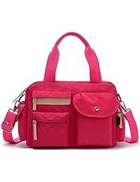 Bagtopia Women'S Light Casual Nylon Crossbody Shoulder Bag Water-Resistant Top-Handle Duffel Handbag
