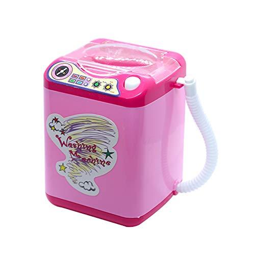 Jiadi Mini-Elektro-Waschmaschine, Spielzeug, Baby Home Miniatur-Wäsche, Mini-Make-up-Pinsel,