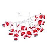Vosarea LED Weihnachtsmann Lichterketten mit 10 Glühbirne für Weihnachtsfeier ohne Batterie (Warm Weiß)
