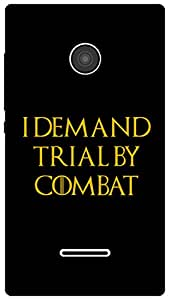 The Racoon Lean Trial by Combat hard plastic printed back case for Microsoft Lumia 435