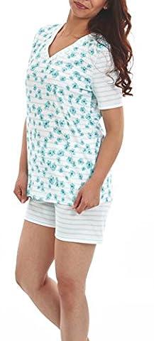 Graziella Pyjama Theodora Shorty 44/46 Nachtwäsche 100% BW zertifiziert Schlafanzug
