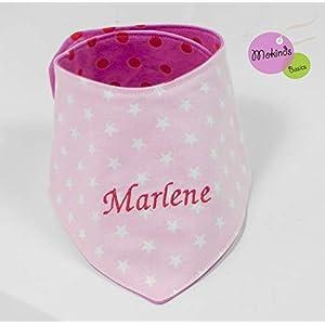 Namenstuch Halstuch mit Namen rosa pink