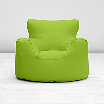 Childrens Kids Green 100% Cotton Small Chair Seat Beanbag Bean Bag with Filling produced by Bean Bag Warehouse - quick delivery from UK.