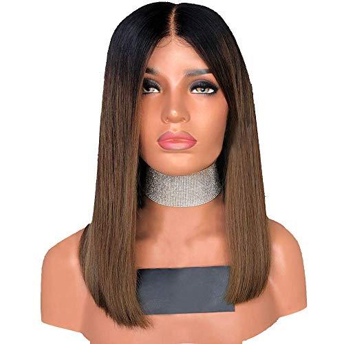 Perruques de Femmes Brunes Perruque Naturelles Mode Synthétique Cheveux Raides Courte BOBO 40CM Tete Wig Italie Festival