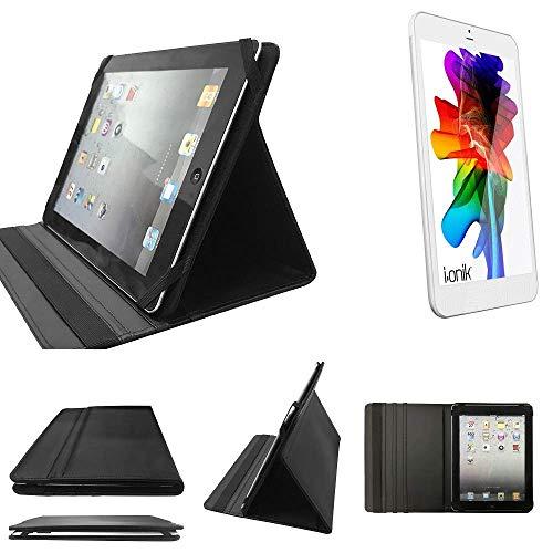 K-S-Trade i-onik TM3 Serie 1 7.85 Zoll Schutz Hülle Business Case Tablet Schutzhülle Flip Cover Ultra Slim Bookstyle Tasche für i-onik TM3 Serie 1 7.85 Zoll, schwarz. Kunstleder Qualit