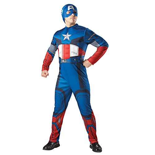 Superhelden-Verkleidung für Herren, hochwertig, Captain America Rubine Marvel (Spiderman Outfit Erwachsene Für)