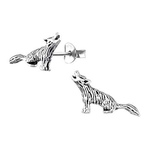 Wolfs-hund Kinder-Ohrstecker Hunde-Ohrring Ohrring-e Kinder-schmuck Mädchen-Ohrstecker Geschenk-e (matt) ()