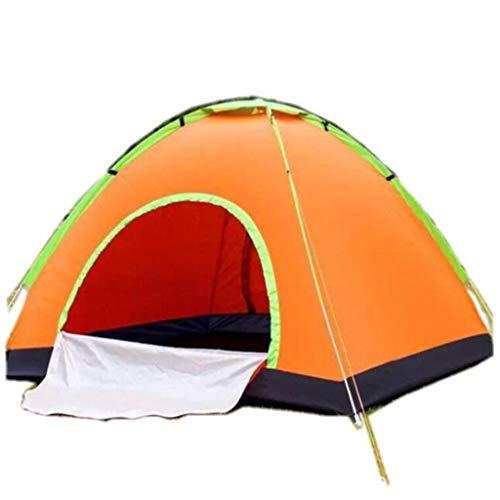 Outdoor-Automatik-Campingzelt, 2-Personen-Leichtzelt, Mobilzelt, 2 Sekunden Geschlossen, Dumping-Zelt, komplettes Zubehör, keine Notwendigkeit zu kaufen (Blau, Grün, Orange, Rosa) ( Color : ORANGE )