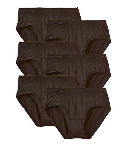 sloggi Damen Slip Feel Pure Midi 8301PR11 6er Pack, Farbe:Schwarz;Wäschegröße:38;Artikel:-04 schwarz (Slips Pack 6)