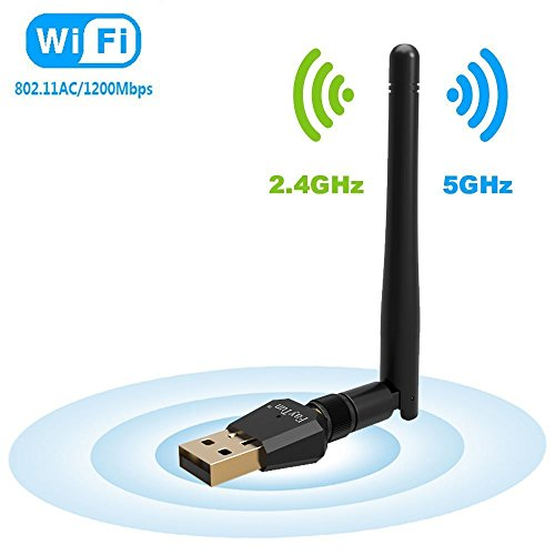 1200Mbps USB Wlan Stick, FayTun Dualband (5G/867Mbps+2.4G/300Mbps) Wifi Adapter, USB 2.0 Wifi Dongle 802.11 ac/n/g/b/a Wireless Standards WiFi-Empfänger für Windows XP/VISTA/7/8/8.1/10,Mac OSX,Linux