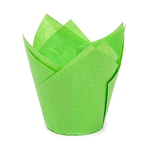Tulip Baking Cups | Cupcake or Muffin Liners (Key Lime Green) 100 Count by Larok (Lime Green Cupcake Liner)