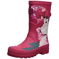 Joules Girls Welly Rain Boot, Granny Floral, 1 Medium UK Little Kid (2 US)