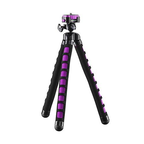 Mantona kaleido Flex leichtes Flex Stativ (mit hochwertigem 360° Kugelkopf, geeignet für Digital und Videokameras, Smartphones und Action Cams) glamour pink