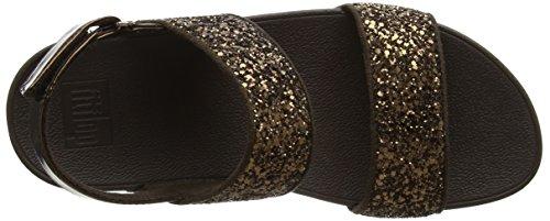 FitFlop - Glitterball Sandal, Scarpe col tacco Donna Brown (Bronze Glitter)