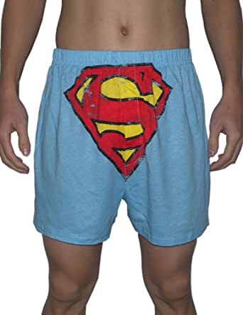 Action Comics Superman Mens Functional Open Fly Boxer ...