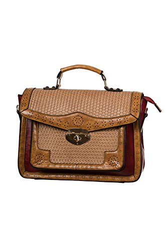 Dancing Days by Banned Henkeltasche HONKY TONK HANDBAG 7087 red Rot one...