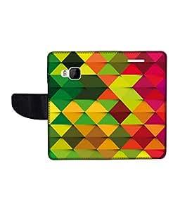 KolorEdge Printed Flip Cover For HTC One M9 Multicolor - (1478-50KeMLogo12104HTCM9)