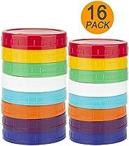 WISH Plastic Mason Jar Lids - Updated Version 100% Compatible for Wide & Regular Mason