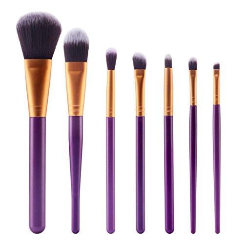 Susenstone 7pcs Brosse Cosmétiques Maquillage Brush Sets Kits Outils