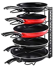 Callas Height Adjustable Kitchen Cookware Organizer Pan Rack