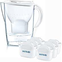 Brita Wasserfilter Halbjahrespaket Marella, inkl. 6 Maxtra+ Filterkartuschen, weiß