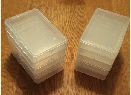 Preisvergleich Produktbild Größe: Normal für Skat-,  Quartettkarten - Zubehör - 10 Stück x Leeretui Leerbox Kunststoffbox Ersatzcover Ersatzhülle Spielkartenbox Kartenbox für Quartette Kartenspiele Kartenschachtel,  Kartenetui
