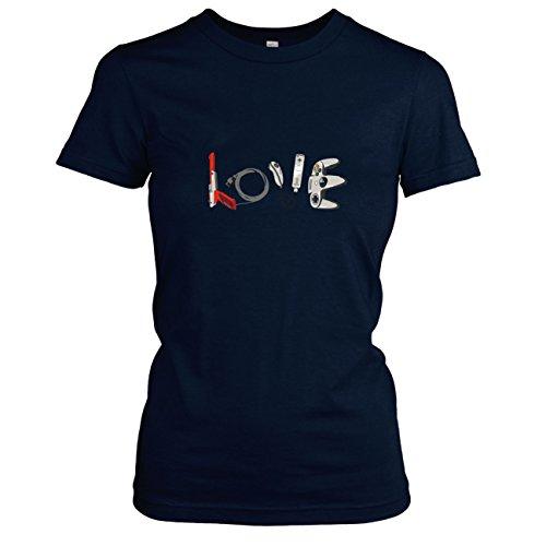 TEXLAB - Banksy Gaming - Damen T-Shirt, Größe XL, dunkelblau