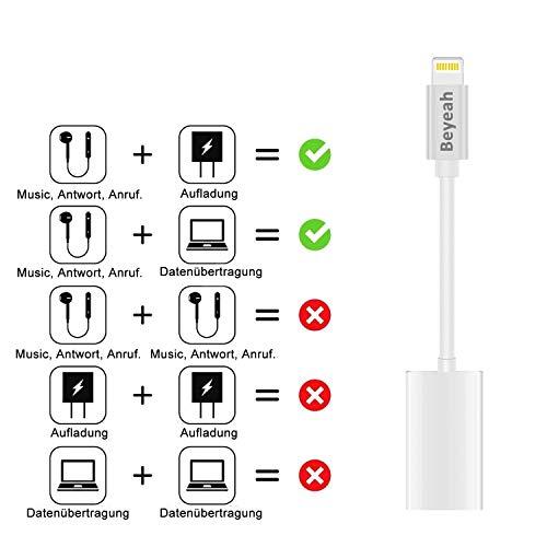 2 in 1 Lightning AUX Adapter iphone Adapter Splitte Kopfhörer Jack Adapter für iPhone Xs /Xs Max / iPhone XR /iPhone X / iPhone 8/8 Plus / iPhone 7/7 Plus. Kompatibel mit iOS 11/12 Oberhalb - 7