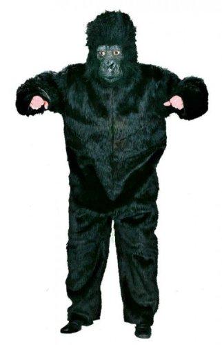 Plüsch-Overall Gorilla, schwarz