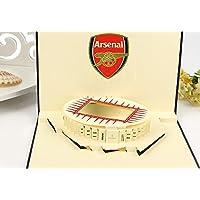 Pop-up 3D pop-up pop-up Arsenal football club emirati stadio biglietto di auguri Valentines card festa del papà festa della mamma Carta di Pasqua anniversario di matrimonio per lui la sua amica famiglia