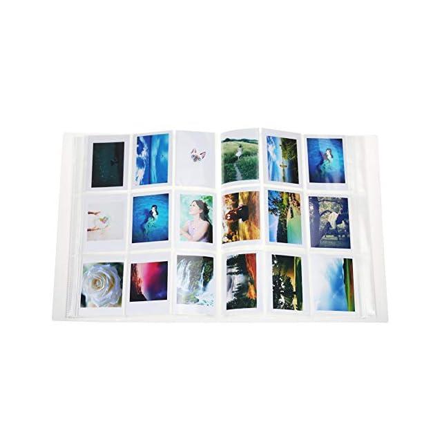 Cpano Store 288 Pochettes Mini Album Photo Pour Polaroid Fujifilm Instax 7s 8