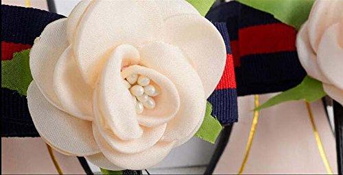 Onfly Thongs Flip Flops Flache Ferse Sandalen Mädchen Rosen Blumen Dekoration Slingpumps Sandalen Black