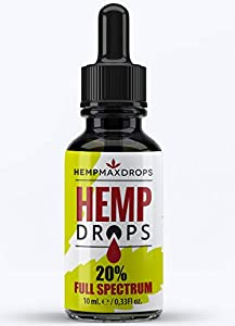 Hemp Oil Drops 20% 2000mg 10ml | 100% Pure Natural Ingredients Full Spectrum Co2 Extracted | Anti-inflammatory | UK Developed | Help Reduce Stress, Anxiety and Pain | Vegan & Vegetarian Friendly