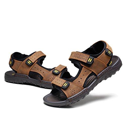 Eagsouni® Homme Randonnée Sport Et De Plein Air confortable Bout ouvert Sandales Marron