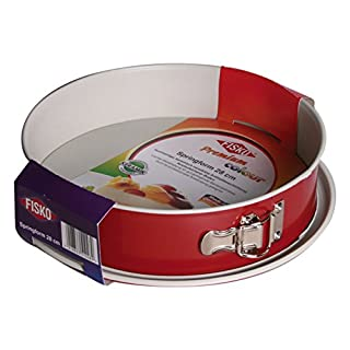 ALPFA Leak-Proof Springform Cake Tin, Ceramic, Red/Crème, 28 cm