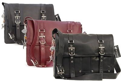 Catwalk Collection Handbags - Cuir Véritable - Grand Sac Gibecière/Messenger/Besace/Sac Bandoulière/Sac Business - Compatible Pour Ordinateur Portable/iPad - Femme - APPRENTICE