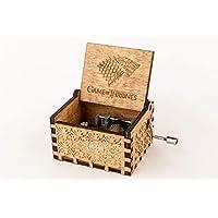 Caja musical de madera grabada Juego de Tronos. Envío gratuito. Vídeo en la descripción.